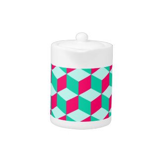 wonderful cube pattern abstract  magenta and  mint