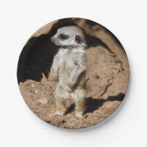 Wonderful Cute Sweet African Meerkat Animal Paper Plate