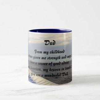 Wonderful Dad/ For Father Two-Tone Coffee Mug