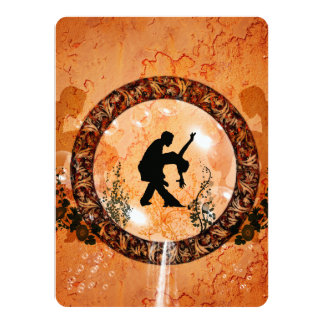 Wonderful dancing couple in a bubble with flowers card