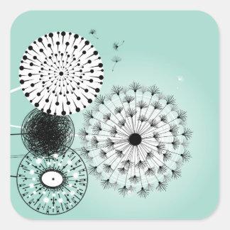 Wonderful Dandelions Blue Sticker