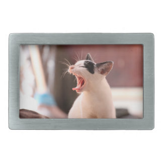 Wonderful Dangerous Cat Rectangular Belt Buckle