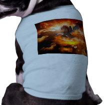 Wonderful dark unicorn in the universe T-Shirt