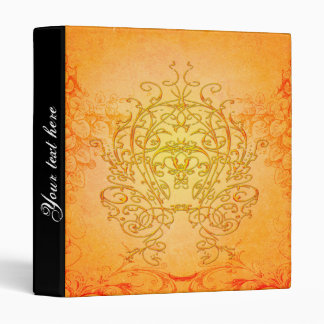Wonderful decorative floral elements 3 ring binder