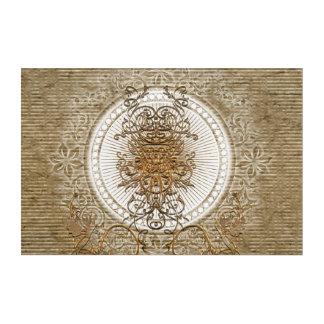 Wonderful decorative floral elements acrylic wall art