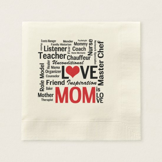 Wonderful Do-It-All Mom - Mother's Day or Birthday Napkin