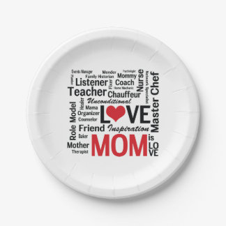Wonderful Do-It-All Mom - Mother's Day or Birthday Paper Plate