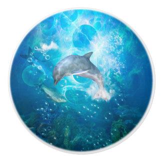 Wonderful dolphin ceramic knob