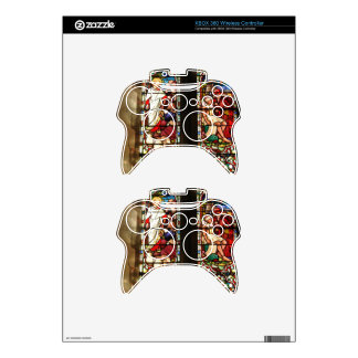 Wonderful double stained glass painting in church xbox 360 controller decal