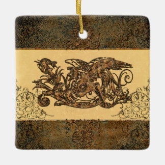 Wonderful dragon ceramic ornament