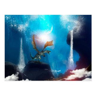 Wonderful dragon in the night postcard