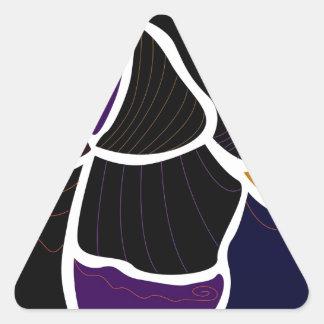 Wonderful elements : purple, beige triangle sticker