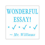 "[ Thumbnail: ""Wonderful Essay!"" Teacher Feedback Rubber Stamp ]"