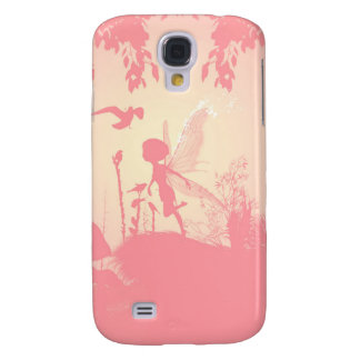 Wonderful fairy silhouette in pink with birds galaxy s4 cover