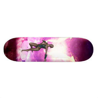 Wonderful  fairy with water wings skateboard