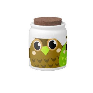 Wonderful fairytale Owls : Tshirts Candy Dish