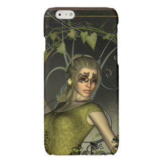 Wonderful fantasy women with leaves glossy iPhone 6 case