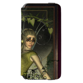 Wonderful fantasy women with leaves iPhone 6/6s wallet case