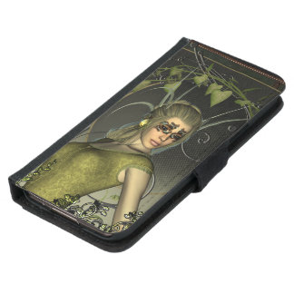 Wonderful fantasy women with leaves samsung galaxy s5 wallet case