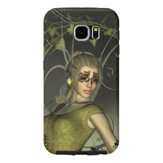 Wonderful fantasy women with leaves samsung galaxy s6 case