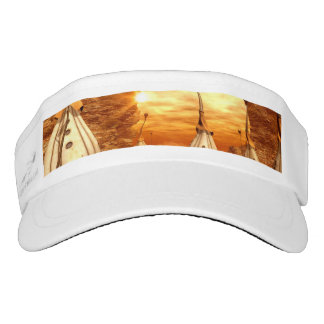 Wonderful fantasy world in the sunset visor