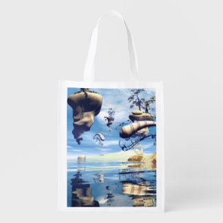 Wonderful fantasy world reusable grocery bag