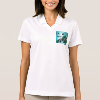 Wonderful Fish shoal with bubbles Polo Shirt