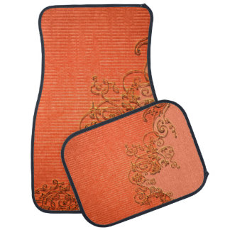 Wonderful floral design in soft colors car floor mat