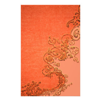 Wonderful floral design in soft colors stationery