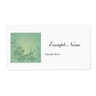 Wonderful floral elements label