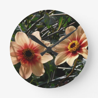 Wonderful Flower Round Clock
