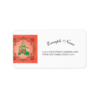 Wonderful flowers and leaves with floral elements label