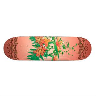 Wonderful flowers skateboard