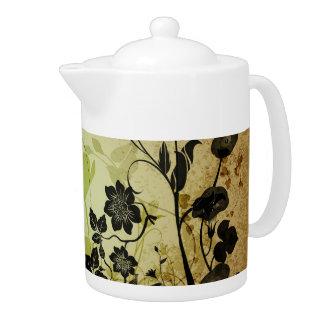 Wonderful flowers teapot