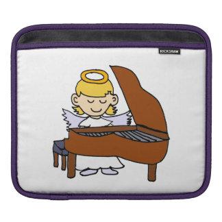 Wonderful Girl Angel Playing the Piano Sleeve For iPads
