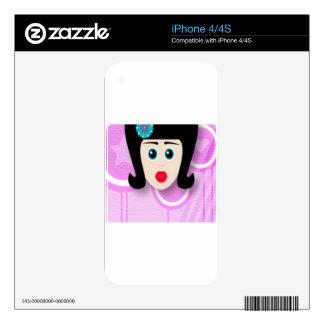Wonderful girl design iPhone 4S decals