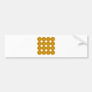 Wonderful gold dots on white bumper sticker