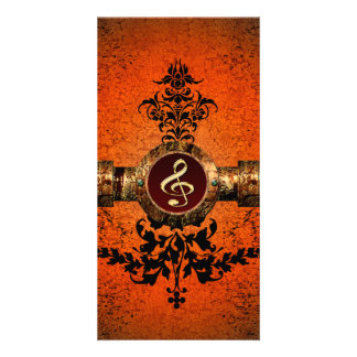 Wonderful golden clef on a awesome button card