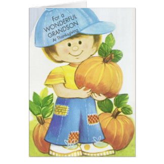 Wonderful Grandson Thanksgiving Card