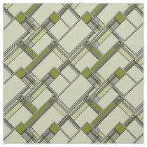 Wonderful Green Arts & Crafts Geometric Pattern Fabric