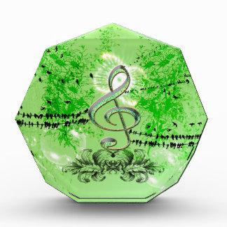 Wonderful green clef acrylic award