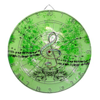 Wonderful green clef dart boards