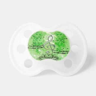 Wonderful green clef pacifier