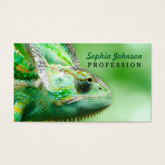 Wonderful Green Reptile Chameleon Business Card