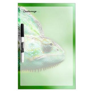 Wonderful Green Reptile Chameleon Dry Erase Board