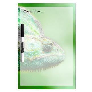 Wonderful Green Reptile Chameleon Dry-Erase Board