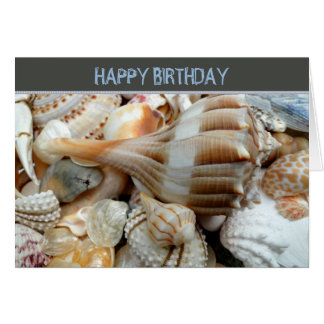 Wonderful Guy Custom Seashell Birthday Card