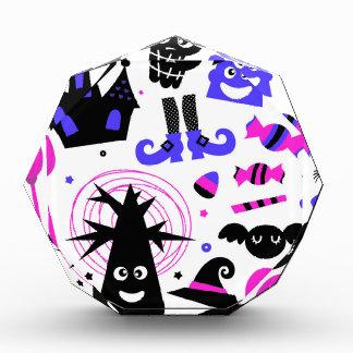 Wonderful halloween Party purple black Acrylic Award