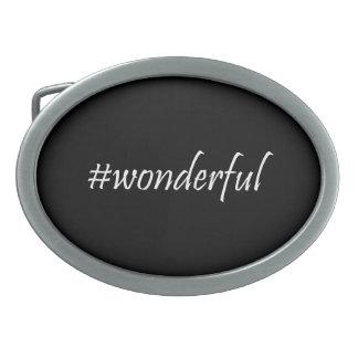 Wonderful Hashtag Belt Buckle