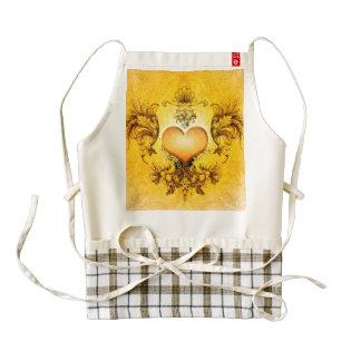Wonderful  heart with floral elements zazzle HEART apron